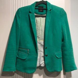 Zara green blazer size small